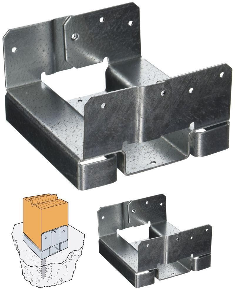 BOX OF 6X6 Standoff Post Adjustable Base ABA66Z Z-Max 747743