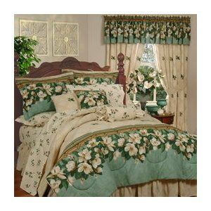 Bedding With Magnolias Magnolia Comforter Set Amazon Sale Bed Comforter Sets Bed Home Kitchens