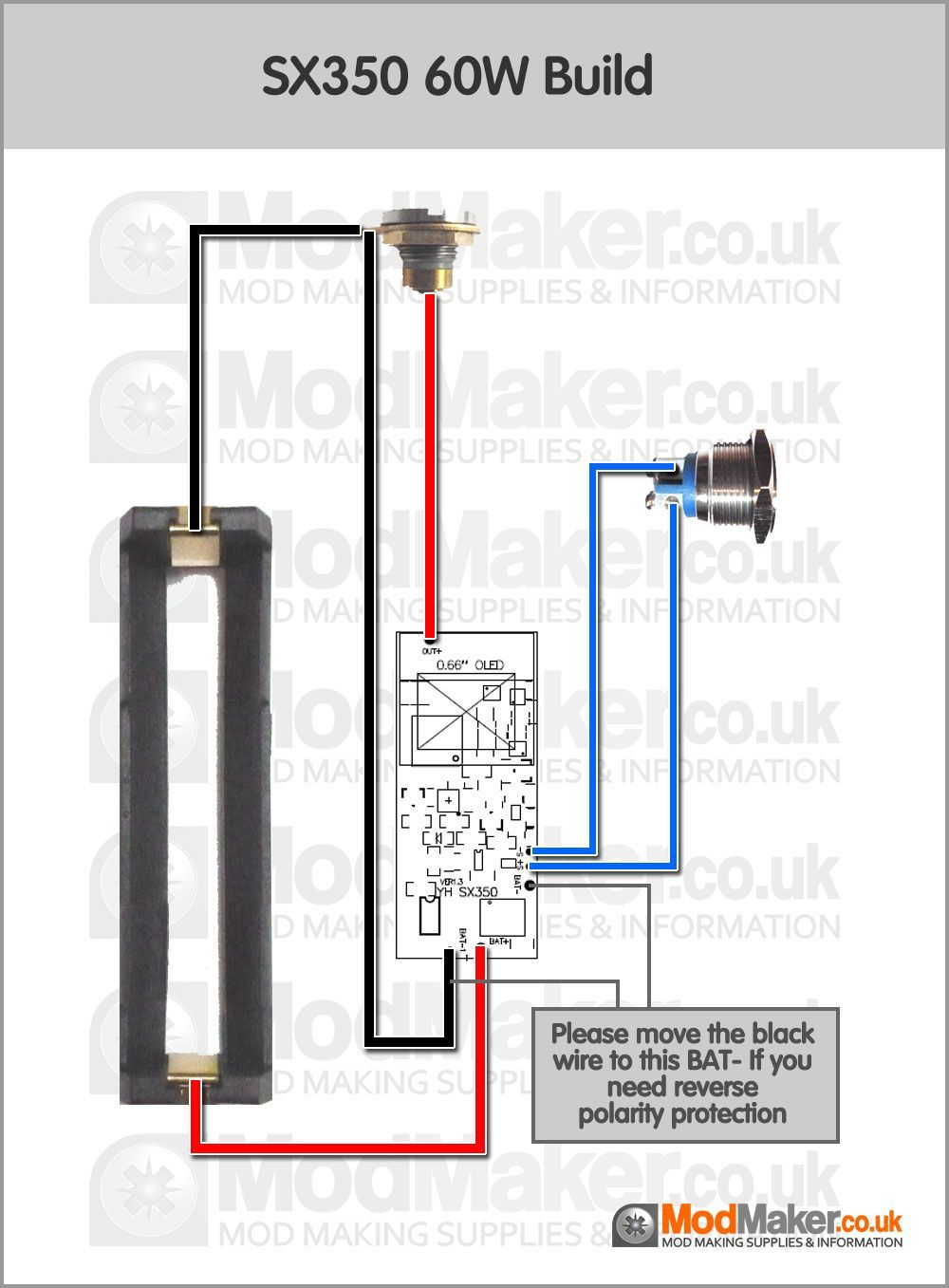 SX350 60W Wiring Diagram Vape box, Diy box mod, Vape coils