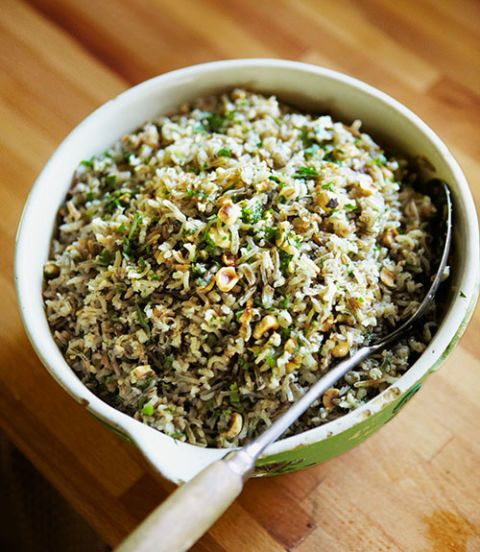 For a satifsying side dish, stir a parsley-hazelnut butter into steamed wild rice. Recipe: Steamed Wild Rice with Toasted Hazelnut Butter
