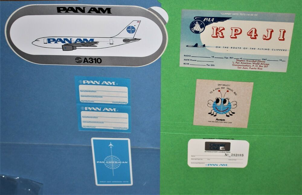 6 Pan Am Airlines A310 Bumper Sticker Luggage Label Playing Clipper Paa Card Lot In 2020 Luggage Labels Bumper Stickers Airlines
