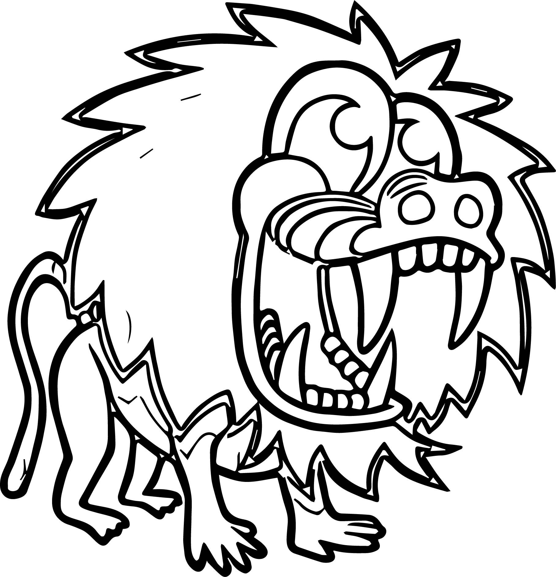 Awesome Cartoon Baboon Party Coloring Page Monkey Coloring Pages