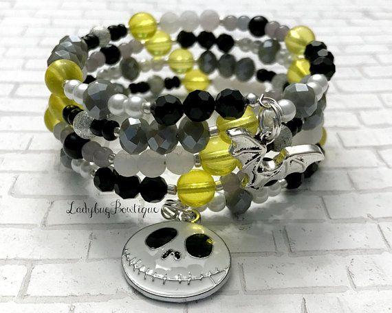 Jack Skellington Glass Infinity Wrap Bracelet Disney Nightmare Before Christmas Jewelry Fandom ...