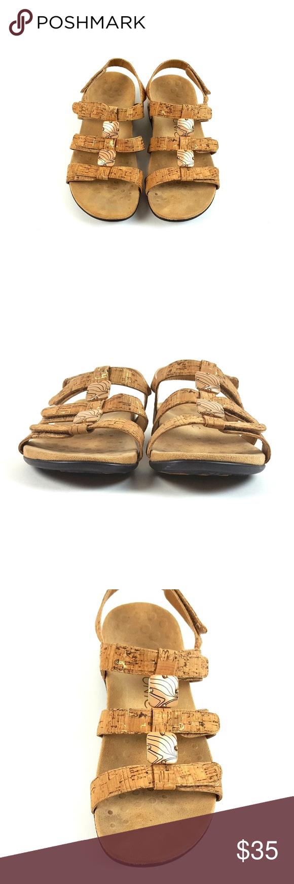 0795e188f5ca Vionic Amber Orthaheel Cork Sandal in 2019