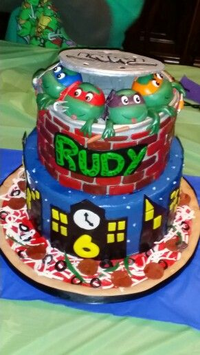 Teenage Mutant Ninja Turtle Birthday Cake By Cakes Gabriela Of Houston TX