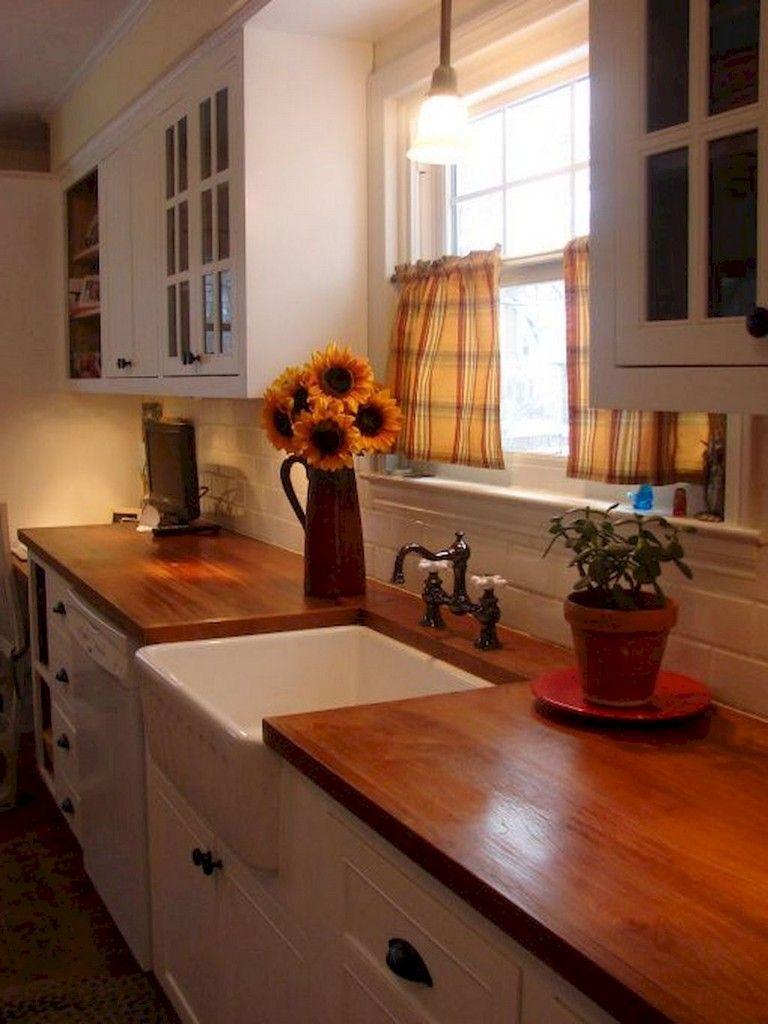 70 beautiful farmhouse kitchen curtains decor ideas with images small farmhouse kitchen on farmhouse kitchen valance ideas id=40611