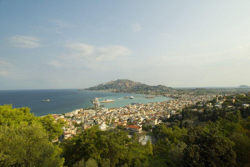 Zakynthos City capital of the island
