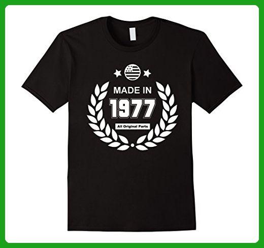 Mens Birthday Gifts Made 1977 All Original Parts T Shirt Medium Black