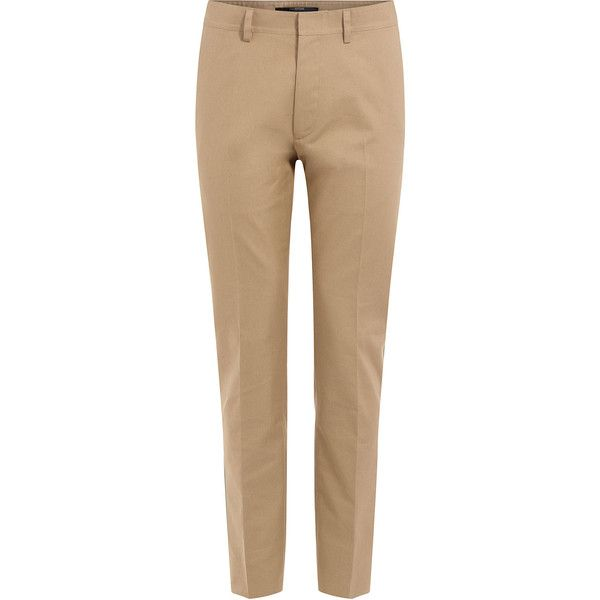 Valentino Cotton Pants (€770) ❤ liked on Polyvore featuring men's fashion, men's clothing, men's pants, men's casual pants and beige