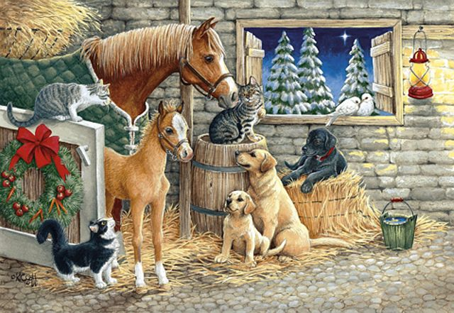 Kathy Goff : Christmas in the stable