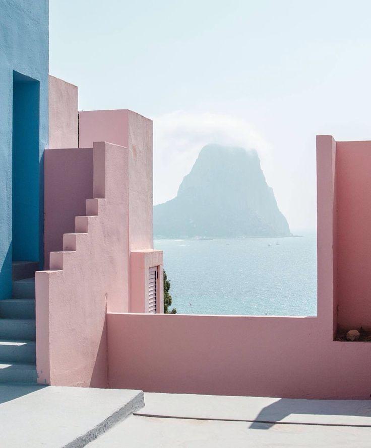 Spain pastel view sea /