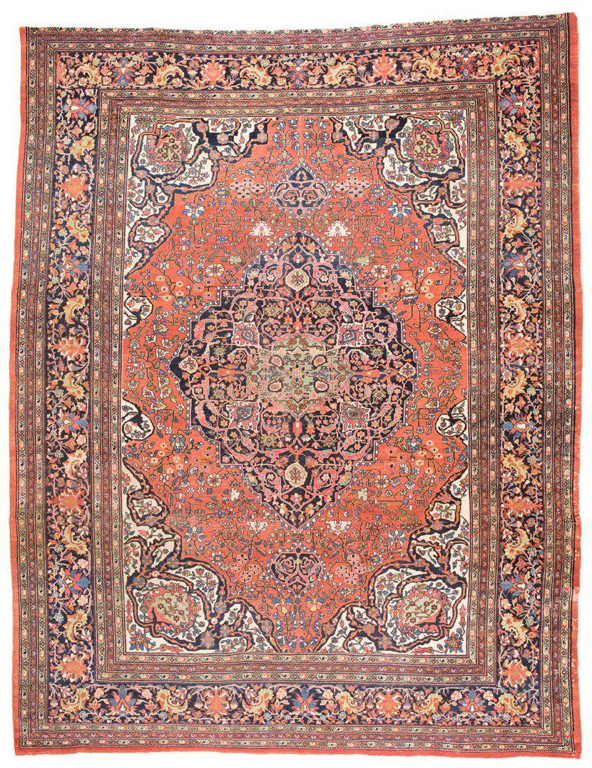 Saruk Ferahan 387 X 307 Cm 12ft 8in X 10ft 1in Persia End 19th Century Antique Persian Rug Antique Carpets Rugs