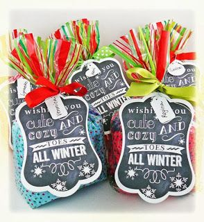 Christmas Socks Gift Tag Frugal Christmas Christmas Fun