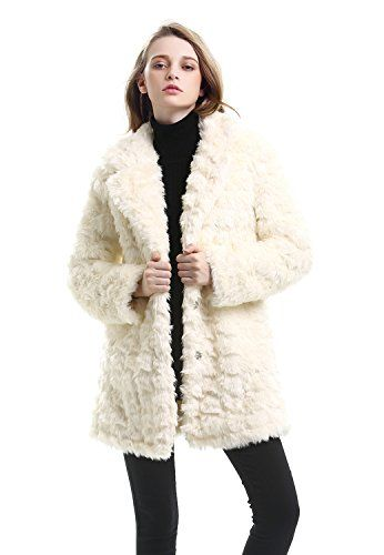 4527afd3002 JOLLYCHIC Women s Embossed Mid Length Winter Warm Faux Fur Coat Jacket  Large    Find out more about the great product at the image link.