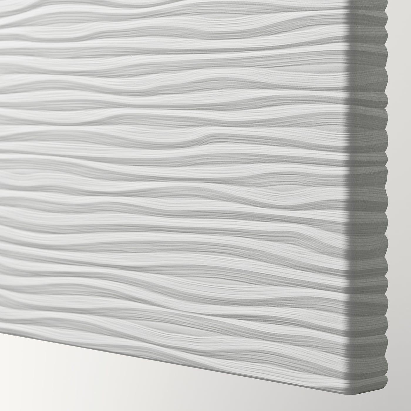VINTERBRO Door with hinges, white, 19 5/8x76 3/4