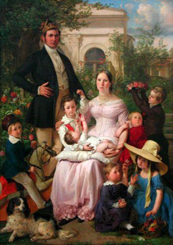 Portrait Of Schegar Family
