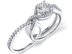 Fits Inside Engagement Rings Twisted Bling Wedding Custom Wedding Rings