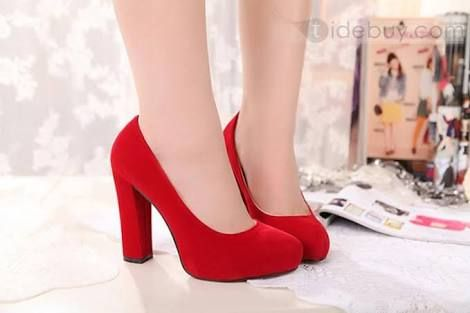 red shoes chunky.heels - Google Search