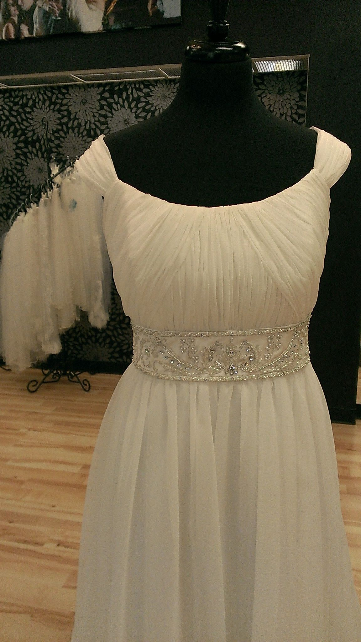 Empire waist chiffon wedding gown wedding pinterest chiffon