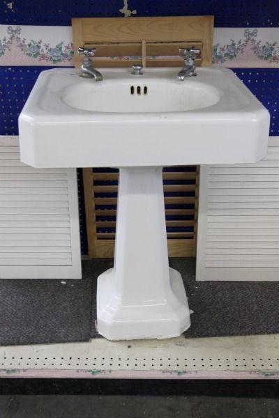 Vintage Square Pedestal Sink Repurpose Me Baby House Tweaking