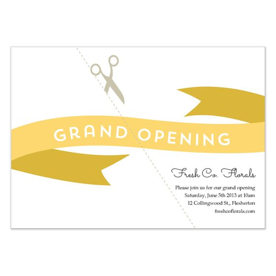 Image result for ribbon cutting invitation Kickoff \ Ribbon - fresh invitation meeting