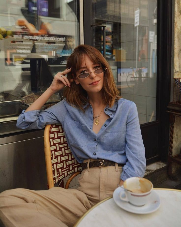 Parisian french street style #french #frenchgirlstyle  Street Style