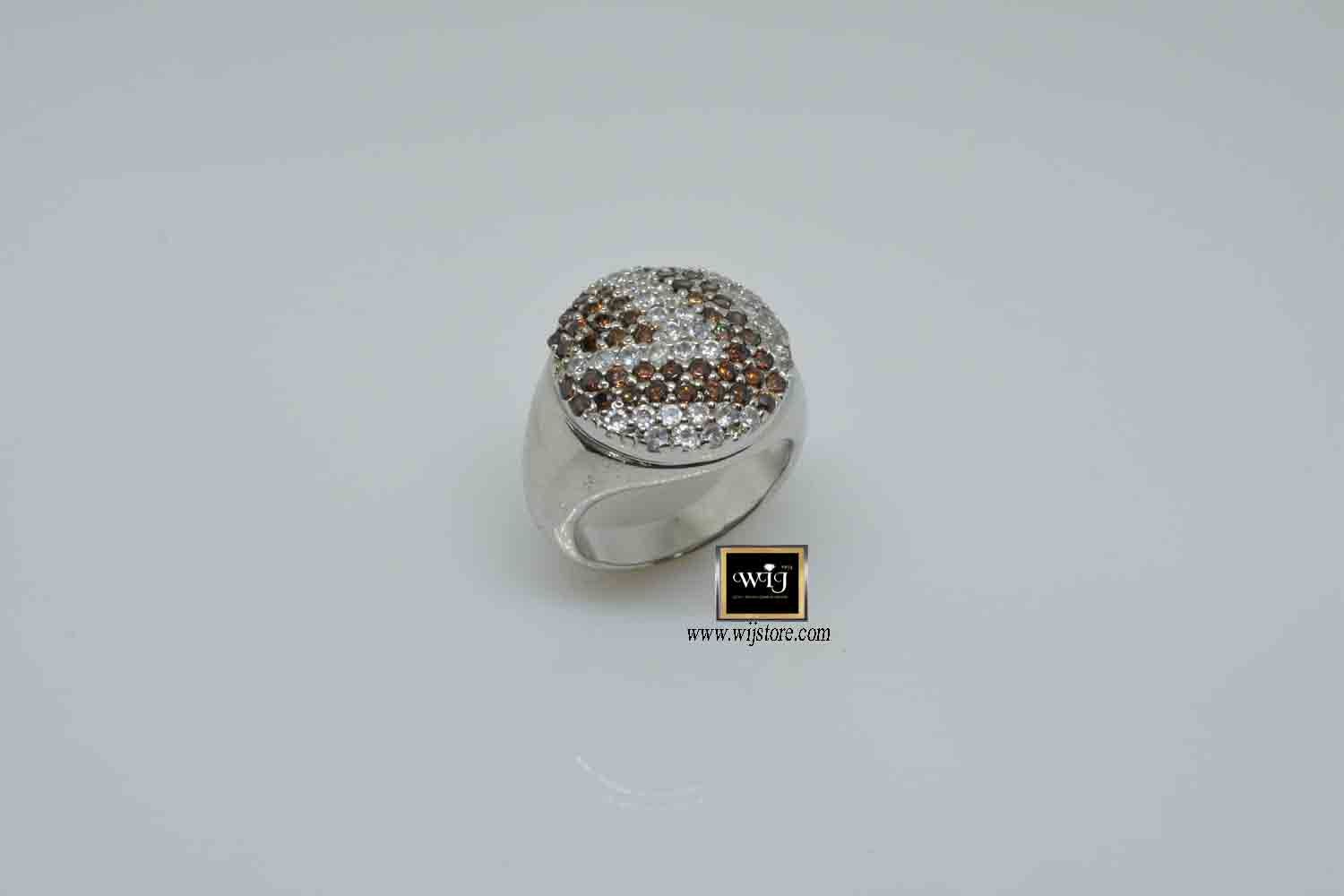 خاتم فضة نسائى عيار 925 Druzy Ring Rings Jewelry