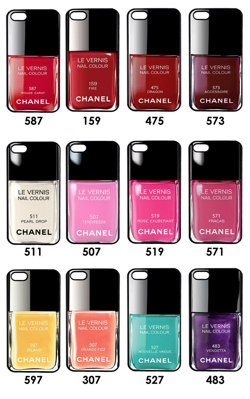 iPhone 5 Case - Nail Polish, Chanel iPhone Case, iPhone Cover ...