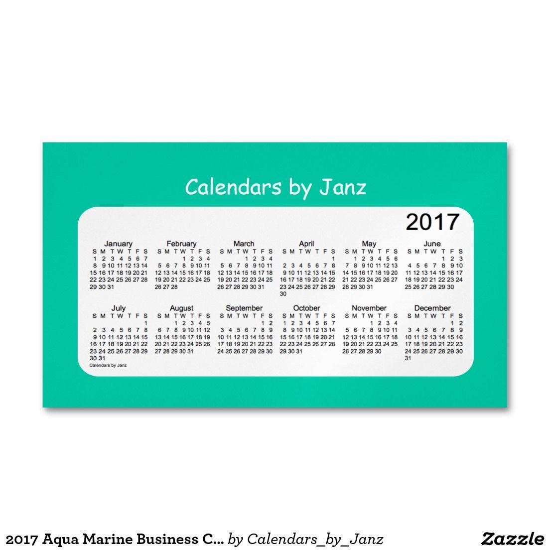 2017 aqua marine business calendar by janz magnet business card 2017 aqua marine business calendar by janz magnet business card magnet magicingreecefo Gallery