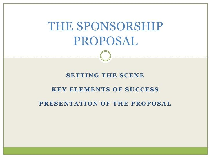 The Sponsorship Proposal Tournament Soccer Pinterest - party sponsorship proposal