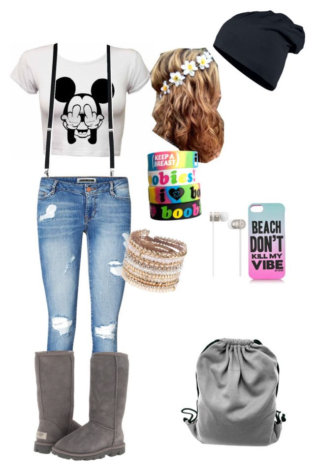 """""""Random #2"""" by searra-carriker ❤ liked on Polyvore featuring Vero Moda, UGG Australia, Juicy Couture, Beats by Dr. Dre, Keep A Breast and ALDO"""