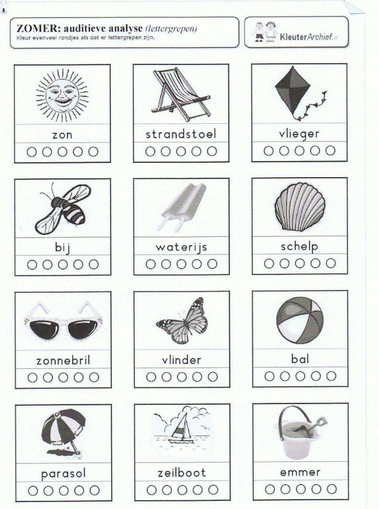Aantal klankgroepjes bij woorden zomer. | Beginnende ...