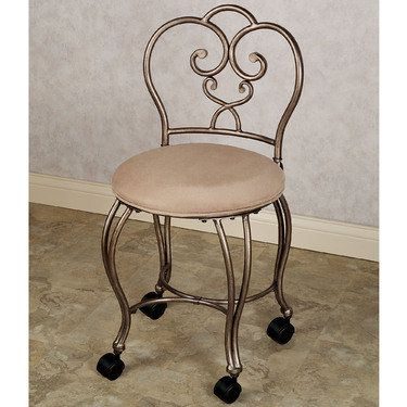 A Rolling Vanity Stool Be Relocated From One Room To Another And
