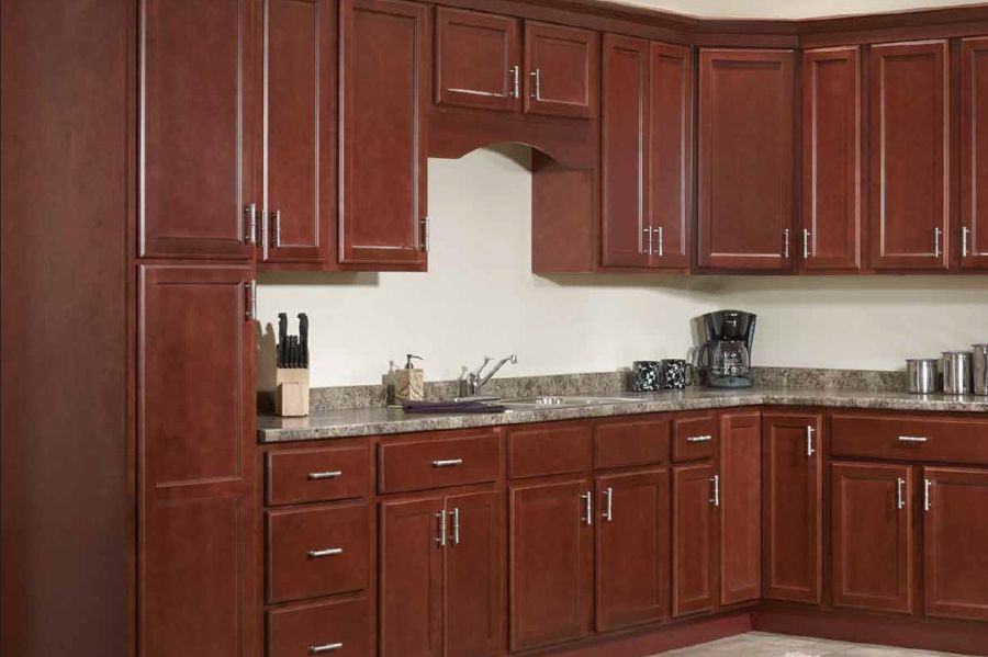 Ozark Cherry Kitchen Cabinets   Kitchen ideas   Pinterest   Cherry ...
