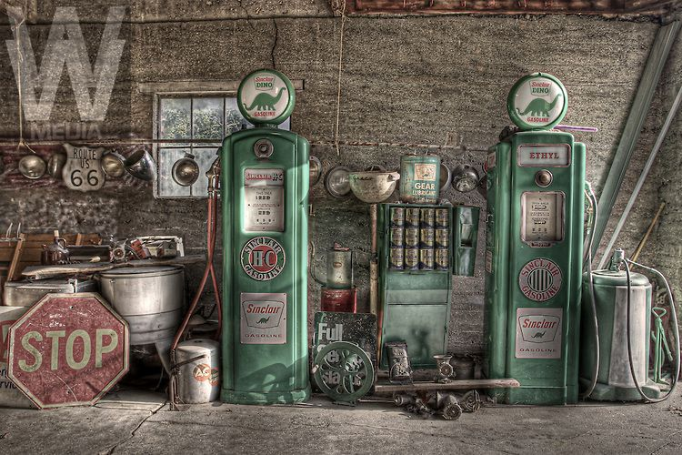 route sixty six garage Google zoeken Old gas stations