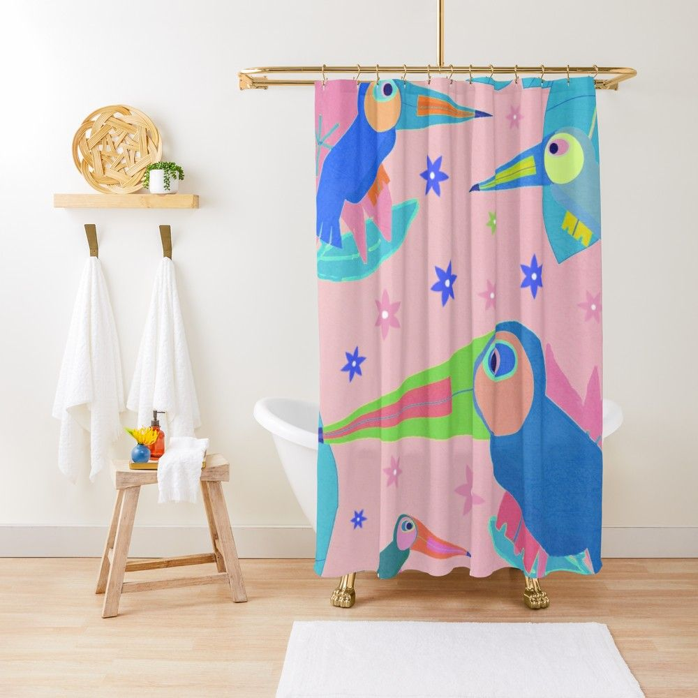 Jungle Party Shower Curtain By Bunhuggerdesign Curtains Floor Pillows Jungle Party