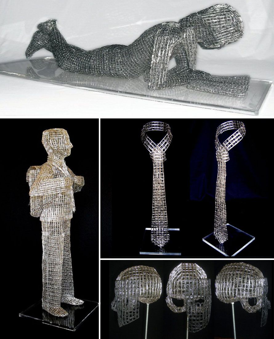 Pietro Dangelo Multi Sculptures-collabcubed Paper Clips