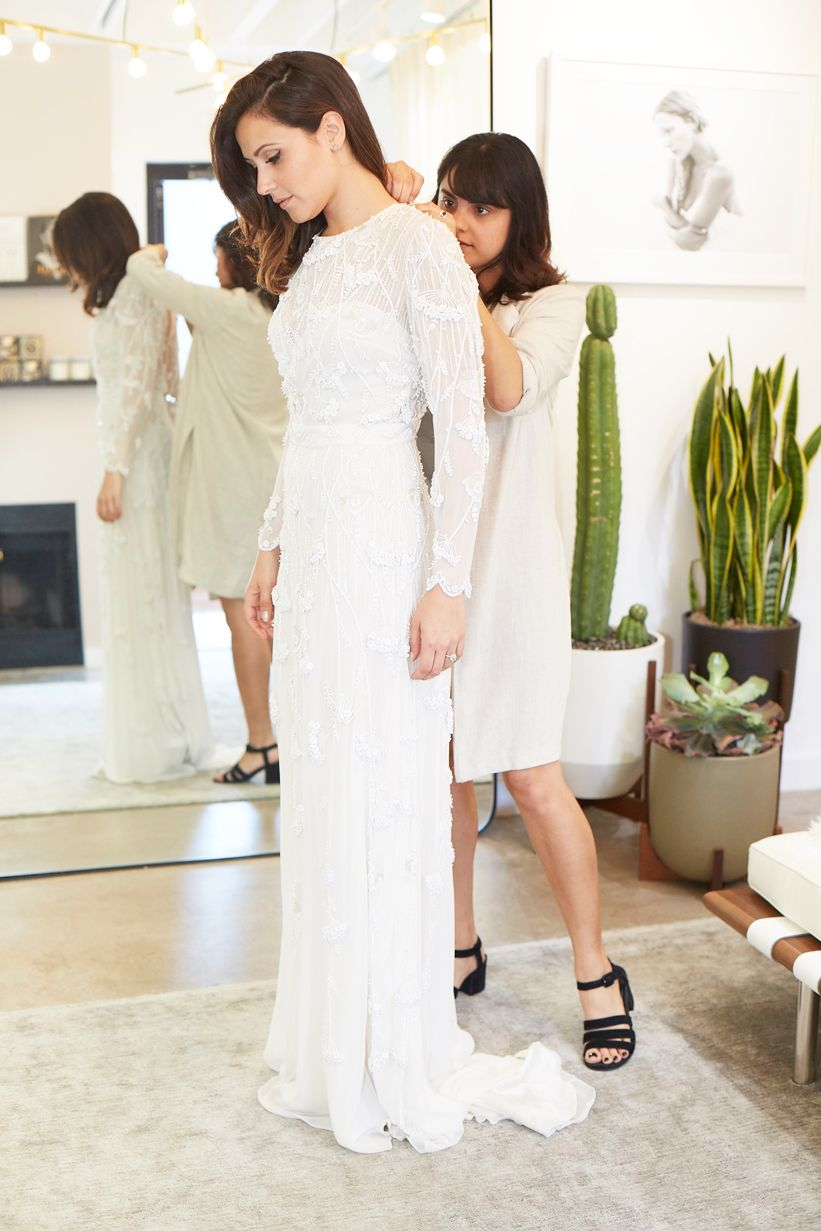 We Helped Actress Italia Ricci Find Her Perfect Wedding Dress