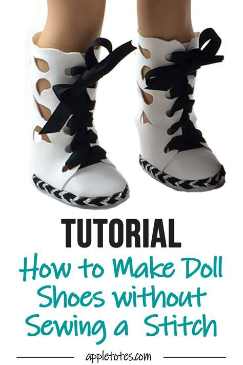 How to Make Doll Shoes Without Sewing a Stitch #girldollclothes