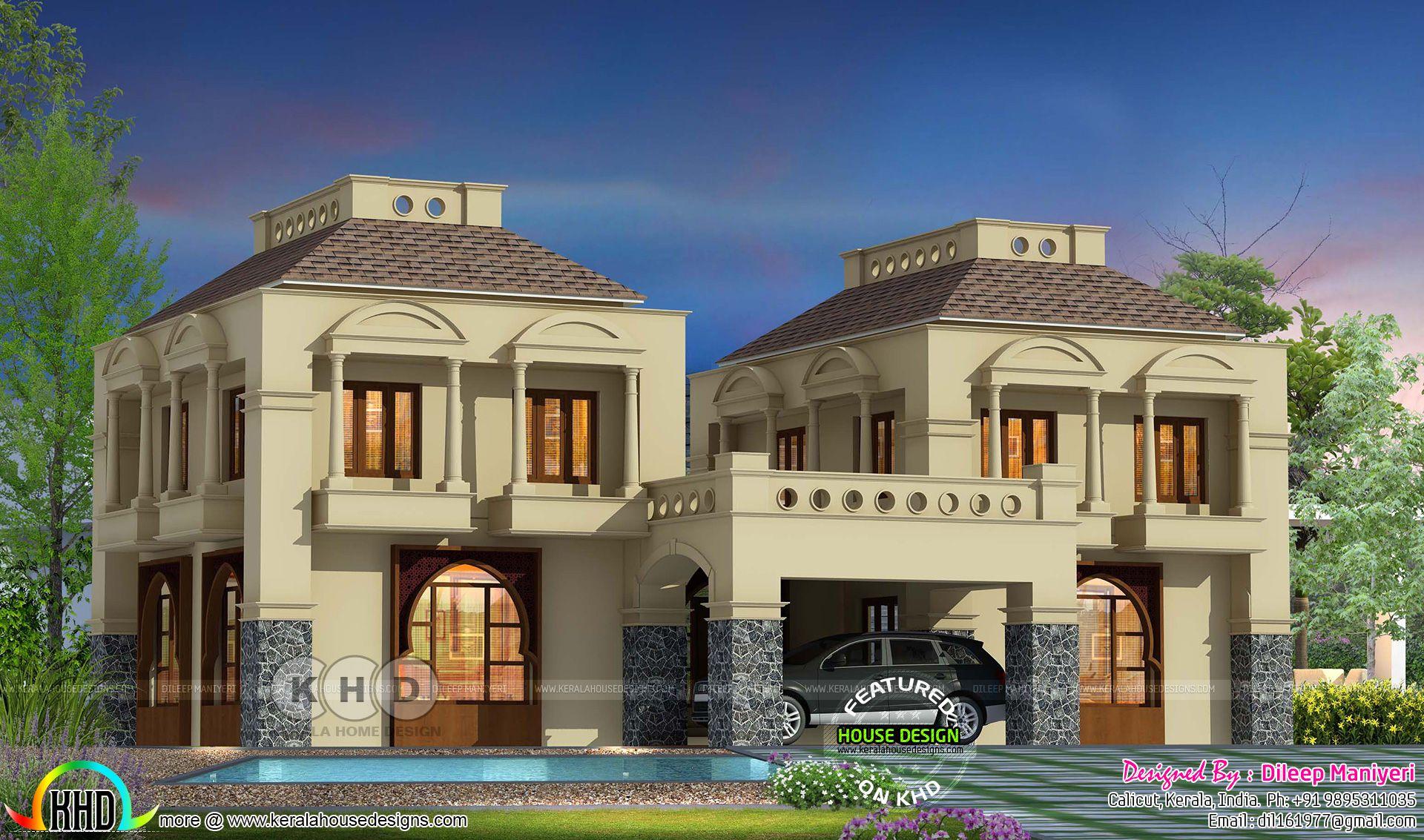 2780 Sq Ft 4 Bedroom Arabian Model House Plan Model
