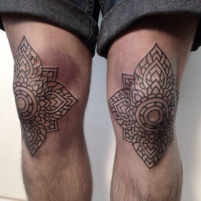 Ornamental Knees Pairodicetattoos Com Knee Tattoo Tattoos Body Art Tattoos