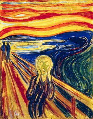 Edvard Munch: Skrik (Scream).