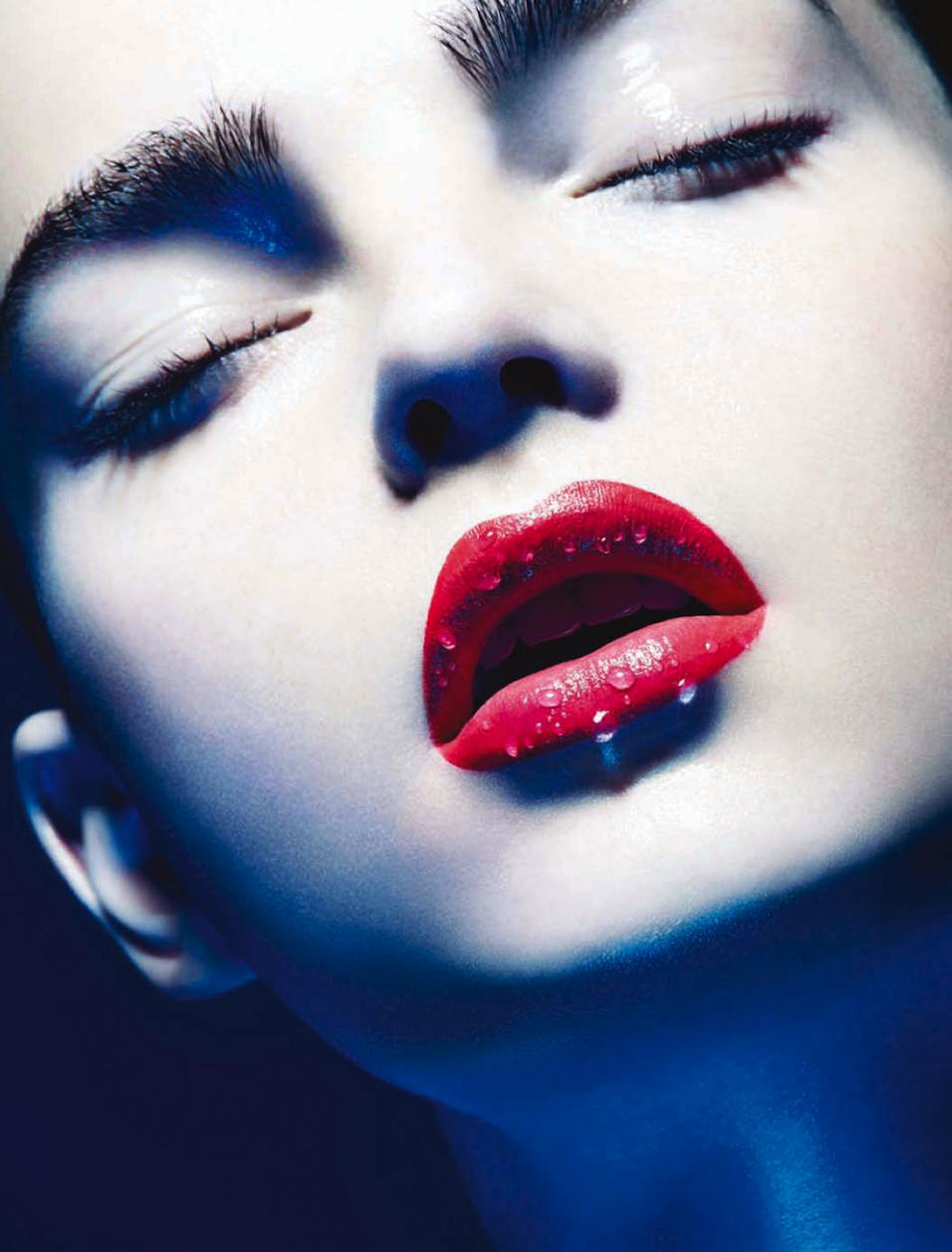 Ellen Burton in Giorgio Armani Beauty forWonderland Magazine, F/W 2014.