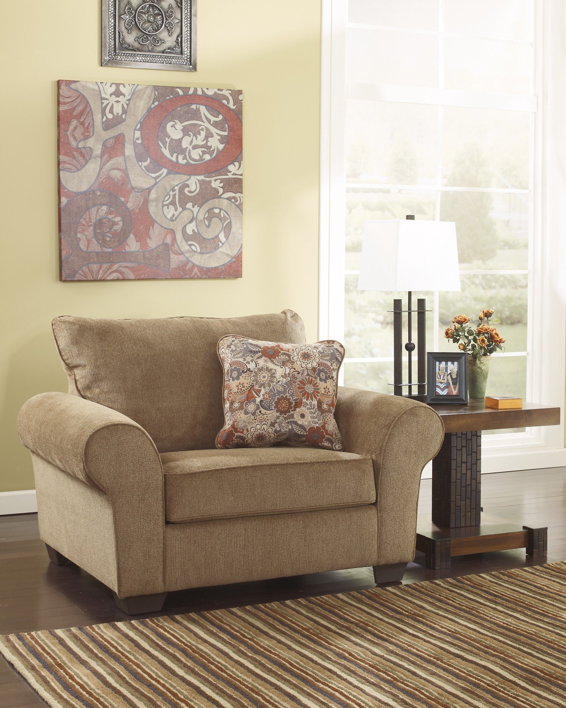 Ashley Furniture Galand 1170023 Umber Chair And A Half Comfy Chairs Comfy Reading Chair Chair And A Half