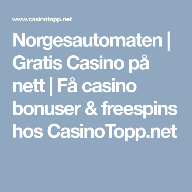 Casino p? nett gratis