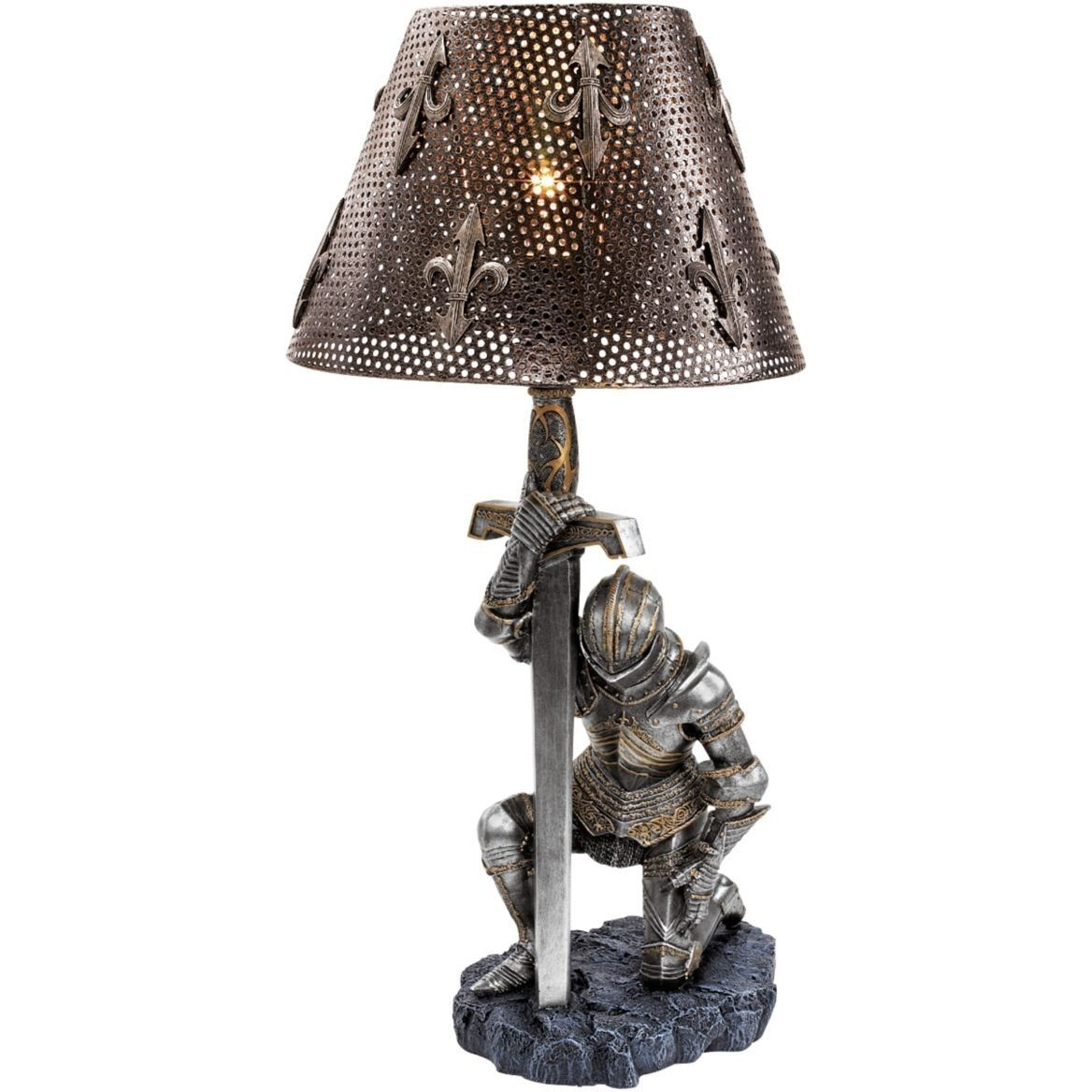 Medieval knight war battle sculptural lamp military gift medieval knight war battle sculptural lamp military gift geotapseo Choice Image