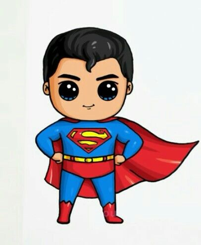 Superman By:Draw so cute | CUTE para vcs | Pinterest ...