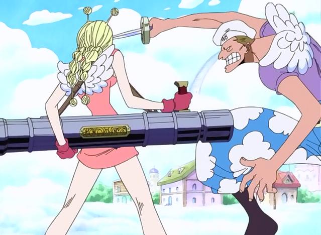 One Piece Conis and the flame bazooka | Character design, Anime, Azumanga daioh