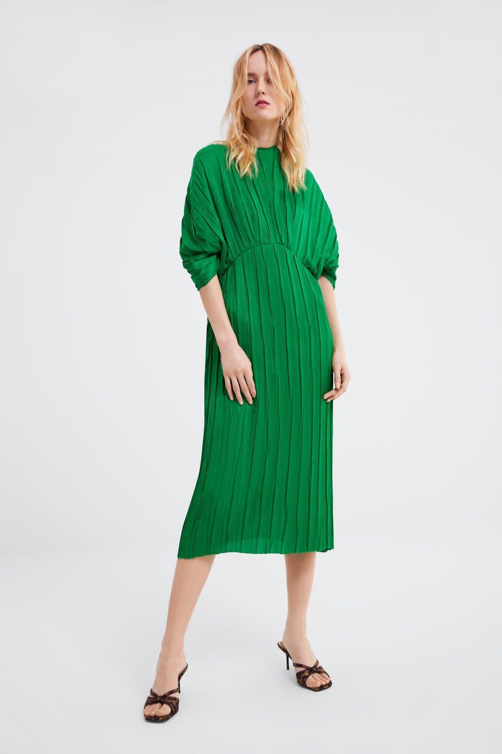 ZARA - WOMAN - PLEATED DRESS  Plissierte kleider, Kleider