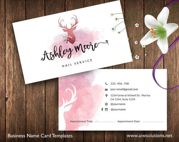 Business Cards Printable Spa Service Card Appointment Card Etsy In 2021 Printable Business Cards Cards Business Card Design